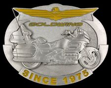 Rare Vtg NOS Honda Goldwing Motorcycle Biker Pewter Belt Buckle MINT