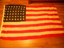 New listing Authentic Vtg Usa 48 star American Flag Style A Fast Color 40x68 Stitched Cotton