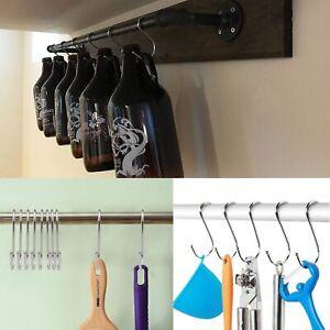 20 pcs Hooks Stainless Steel Metal Hanger Hanging Hooks for Kitchen, Bathroom