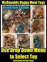 McDonalds Happy Meals Toys: Noddy Hot Wheels Dragons Pixar Disney - New Sealed