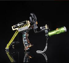 Powerful Pro Hunting Fishing Slingshot Laser Catapult Bow Archery Target Arrows