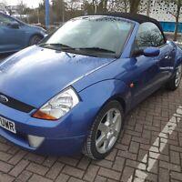 Ford StreetKA Luxury CONVERTIBLE. Blue. 7 Months MOT.