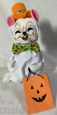"""RARE Annalee Halloween Doll ~ TRICK OR TREAT GHOST MOUSE ~ 6"""" Tall"""