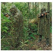 Woodland Camo Camouflage Clothing Ghillie Suit Poncho jungle Hunting Breathable