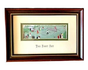 Vintage Stevengraph First Set A Lawn Tennis Match Silk Woven Picture Limited Ed