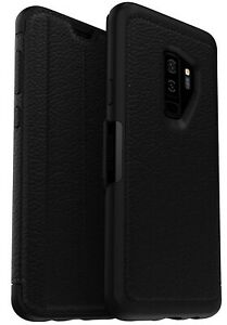 OtterBox Strada for Samsung Galaxy S9 Case Black Leather Wallet Full Phone Cover