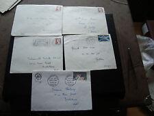 FRANCE - 5 enveloppes 1961 1963 1964 1964 1964 (cy23) french