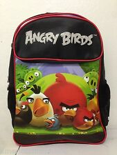 "Angry Birds & Piggies School 16"" Backpack Back Pack! Angry Birds Backpack-New"