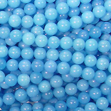 TURQUOISE CANDY JADE 8MM ROUND GEMSTONE BEADS A+