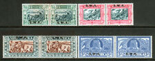 1938 South West Africa SC B5-B8 SG 105-108 Pairs, Voortrekker Monument MLH