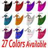 TMS Satin Skirt Veil Set Belly Dance TRIBAL Gypsy Club Costume Dress 27 Colors
