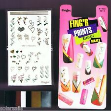 Fingrs Holiday Nail Art Stick On Decals Heavenly Design