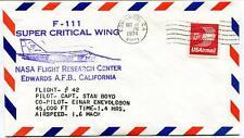 1974  F-111 Super Critical Wing - Flight Research Center Edwards California NASA