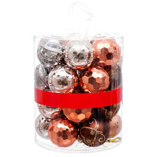 26 Christmas Tree Ornament large 6cm Ball Decoration Bauble Fancy Glitter mix