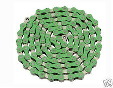 YBN Chain 1/2x1/8 x 112L 1 Speed Green Chrome BMX Urban Cruiser Bicycles 123152