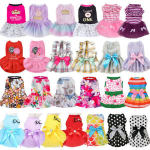 Dog Skirt Pet Dress Small Dog Princess Dress For Chihuahua Puppy Cat Clothes