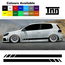 Side Stripes Stickers For VW Polo Golf Lupo Scirocco GTI GTD R GT Line Vinyl