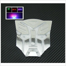 Transformers Solar Power Sun LED Flash Strobe Warning Light Emblem Badge Sticker