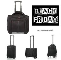 BLACK  FRIDAY SALE Cabin Laptop Trolley Business Exec Hand Luggage Bag Black