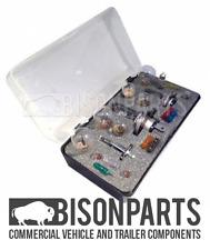*24V H4 H7 H1 Truck 18pc Emergency Spare Bulb Fuse Rep. Travel Kit BP32-499