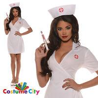 Womens Ladies Sexy Doctors Orders Nurse Hen Night Fancy Dress Party Costume