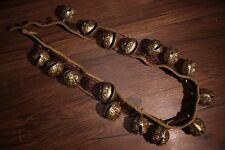 Chinese Antique Tibetan Buddhism old copper tiger head bell 16pc