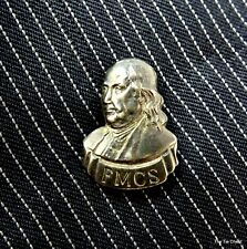 Benjamin Ben Franklin FMCS Tie Tack Lapel Pin Bust Profile Mens Jewelry