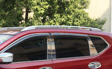 Alloy Top Roof Side Bars Rails Rack Luggage Carrier For Nissan Rogue 2014-2018