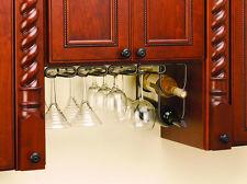 "11"" Quad Wine Glass Rack Hanger Holder Stemware Oil Rubbed Bronze (Rev-A-Shelf)"
