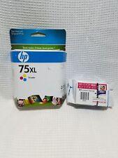 HP 75XL Tri-Color Ink Cartridge CB338WN New Genuine Sealed Box Date: 2010 2 pkg