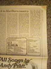 Led zeppelin Boston after dark concert ad b.a.d. 1970 occurrences live college🦄