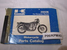 KAWASAKI Z650-B Z650B Z650 B B1 B2   PARTS LIST  CATALOGUE CATALOG