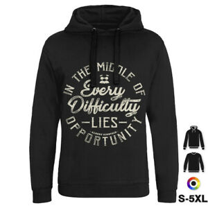 Every Difficulty Quotes Hoodie Lies Opportunity Albert Einstein In Middle P080