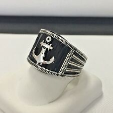 Navy Anchor Sailor Sterling Silver .925 Ring, Turkish Design Size 9 3/4