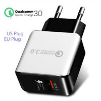 HK- Quick Charge 3.0 USB 5V 3A Phone Wall Home Travel Fast Charger Adapter Charm