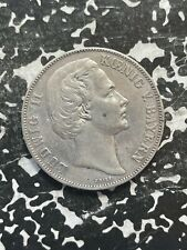1871 Germany Bavaria Victory Thaler Lot#JM2835 Large Silver Coin! Cleaned