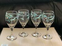 REDUCED Set Of 4 Pfaltzgraff April Water/Wine Goblets
