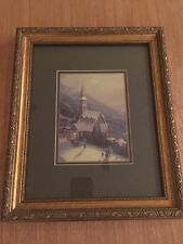 Thomas Kinkade encadrée Classic Print collection-au clair de lune village Non Disney