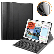 For iPad Pro 12.9 2nd Gen 2017 Wireless Bluetooth Keyboard Case Protective Cover