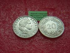 Münzen Schweiz 1930 B Swiss  1 x 20 Rappen 1930  B  schön Coin Svizzera