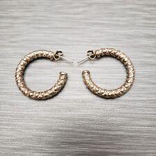Womens 925 Italy Half Hoop Earrings Sterling Silver