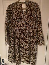Asos leopard print dress size 18