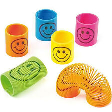 Mini Slinky Smiley Face Springs Rainbow Smiley Spring Party Bag Fillers Kids Toy