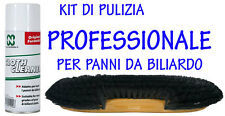 KIT PROFESSIONALE DI PULIZIA PANNO DA BILIARDO - SPAZZOLA 2 ALI E CLOTH CLEANER