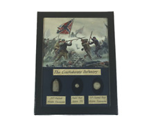 The Confederate Infantry Civil War Bullet Set with Glass Top Display Case