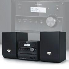 Musik 2.0 System Digital FM Radio DAB+ 10W RMS Heimkino schwarz AUX CD MP3 LCD
