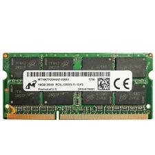 Micron 16GB 2RX8 PC3L-12800S DDR3-1600Mhz 1.35V Laptop SO-DIMM RAM Memory 1pcs