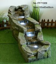 CASCADING RIVER OUTDOOR GARDEN WATER FEATURE - GREAT SOUND ORGANIC LOOK & FEEL