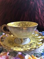 Vintage Royal Sealy Japan Tea Cup And Saucer Yellow And Good Accents