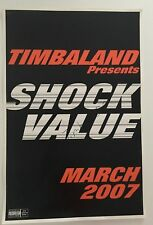 "Timbaland Signed Autograph Poster 24"" x 36"" Shock Value"